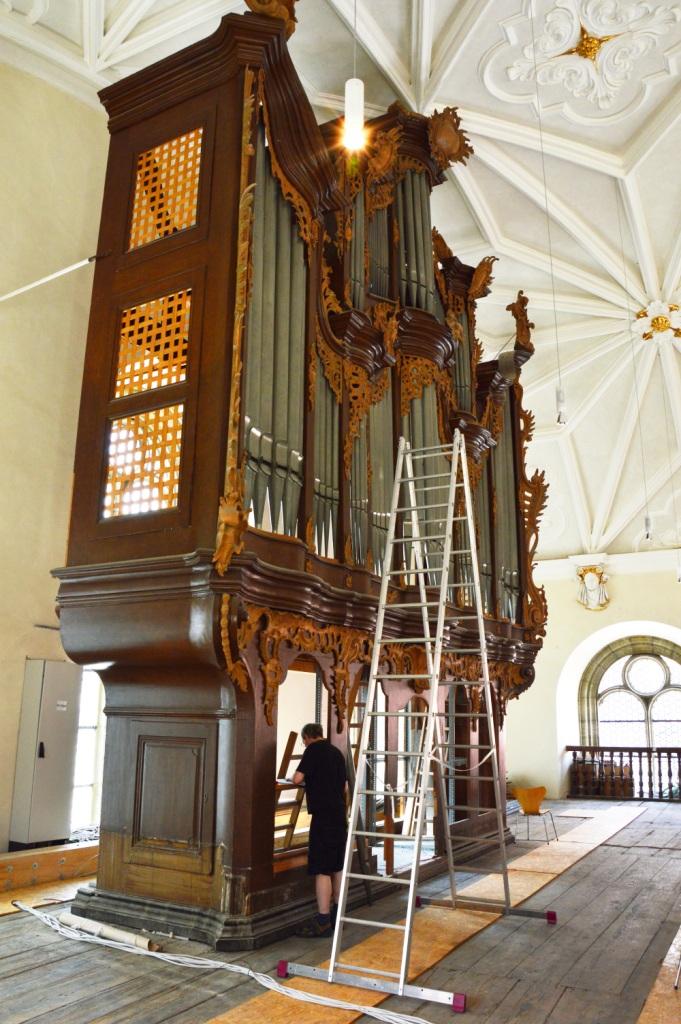 Orgelprospekt Vermessung
